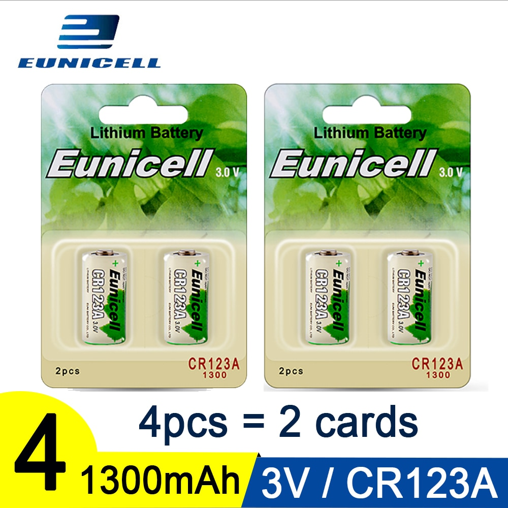 4PC 3V 1300mAh CR123A Battery CR17345 KL23a VL123A DL123A SF123 16430 For Laser Pen LED Flashlight Cell Lithium Li-ion Batteries