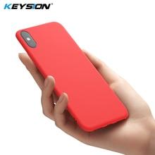 Funda de silicona líquida Original y delgada KEYSION para iPhone XR, iPhone Xs, Max, Gel de goma, funda protectora para iPhone X, XS, R