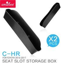 C-HR SMABEE Fenda Assento Caixa De Armazenamento Para TOYOTA 2016 ~ 2019 CHR Caixa Apoio de Braço Central caixa de armazenamento ABS Acessórios Interiores