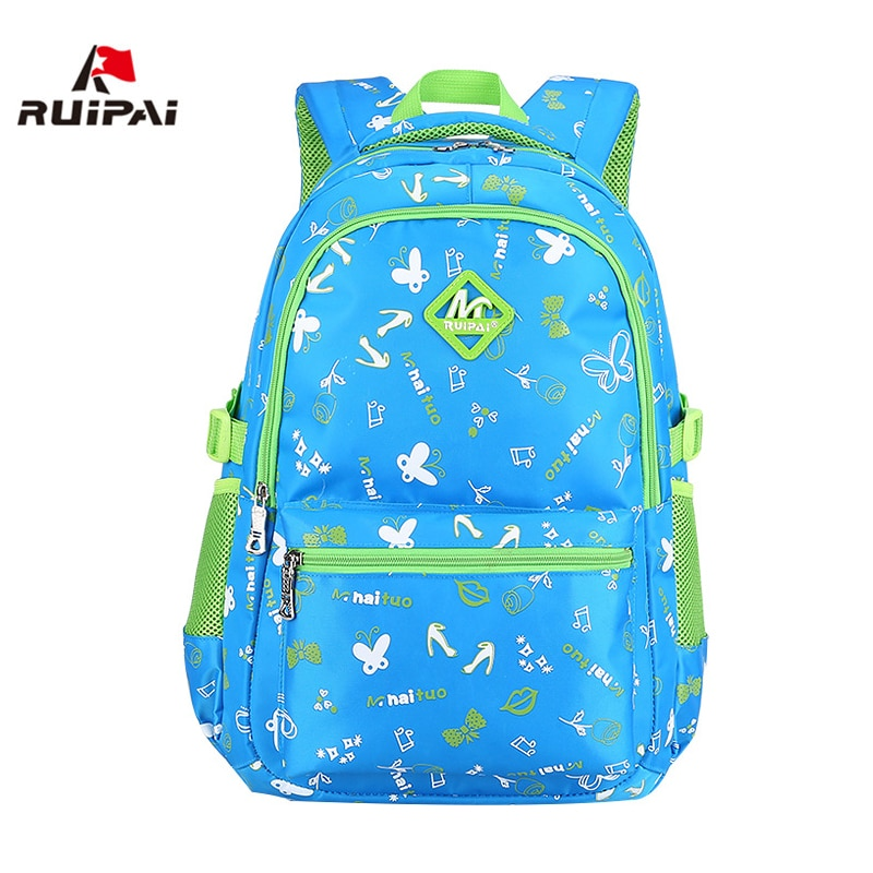 RUIPAI School Bags for Teenage Girls Canvas Female Backpacks for College Student Waterproof Children