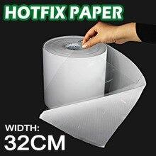 32 CENTIMETRI di larghezza Hot fix nastro di carta di ferro sul trasferimento di calore pellicola super-adesivo di qualità per FAI DA TE HotFix Pietre di strass di cristallo su abbigliamento strumenti