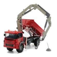 Juguete de grúa montada en camión JINGBANG 1 60, carro, camión, modelo de aleación, vehículo de construcción, coches, regalo para niños, juguetes para niños