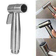 Roestvrij Staal Wassen Toiletbril Hand Held Douchekop Bidet Wc Spray Wc Shattaf Badkamer Accessoires Bidet Toilet Seat