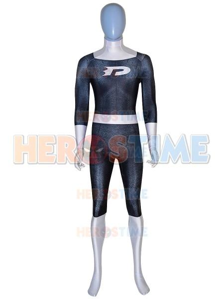 Newest Danny Phantom Superhero Cosplay Costume 3D Print Spandex Zentai Suit Bodysuit for Adult/Kids Halloween Costume for Party
