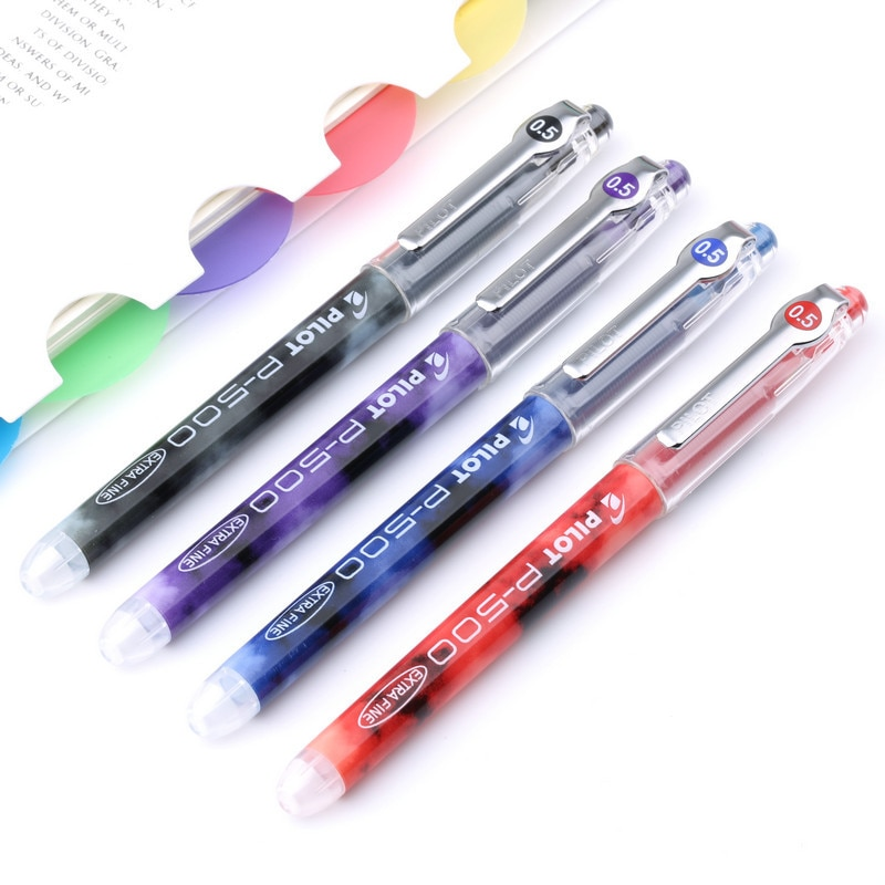 1 ud. Bolígrafo de gel plástico Neutral bolígrafos para la escuela Oficina escritura punto 0,5mm BL-P500 recarga de tinta negro rojo púrpura azul papelería