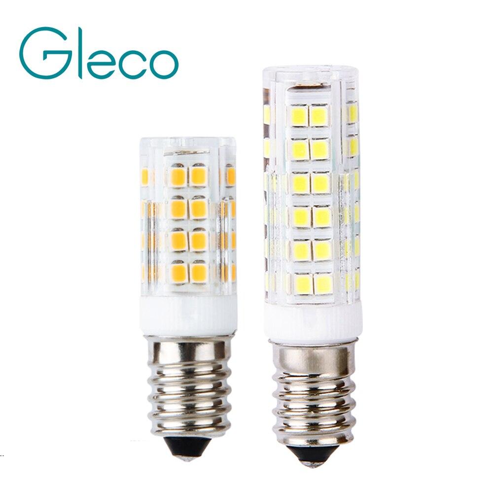 220V Mini E14 bombilla LED 2835 SMD 5W 7W 51LEDs 75LEDs lámpara de maíz de la cubierta de la PC del punto de luz LED reemplazar la lámpara de halógeno luz colgante