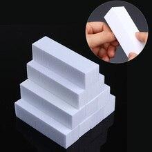 10Pcs Nagel Buffer Set Weiß Rosa Grün Nagel Schwamm Schleifen schleifen Polieren Block Datei Nail art Werkzeuge Nagel Pflege behandlung Kits