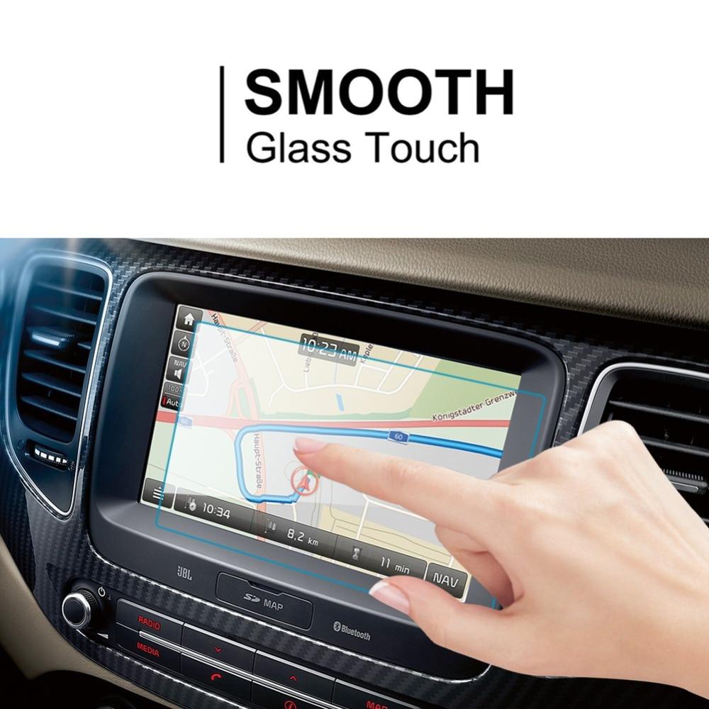 RUIYA de cristal templado de película protectora de pantalla para Kia Carens coche para pantalla de navegación gps 9H protector de pantalla de vidrio templado
