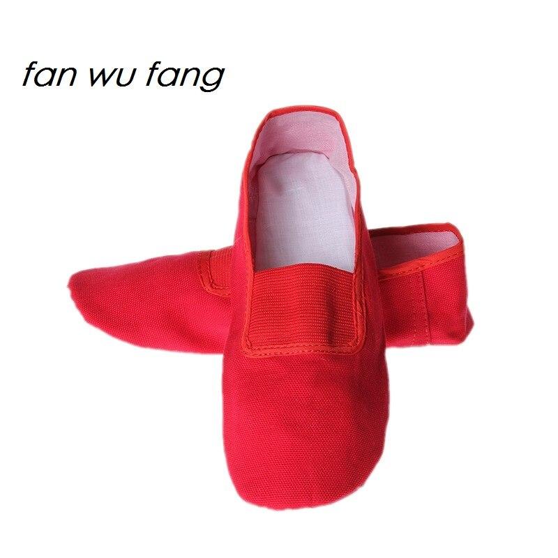 Fan wu fang/Новинка 2017 года парусиновая спортивная обувь с Красной мягкой подошвой