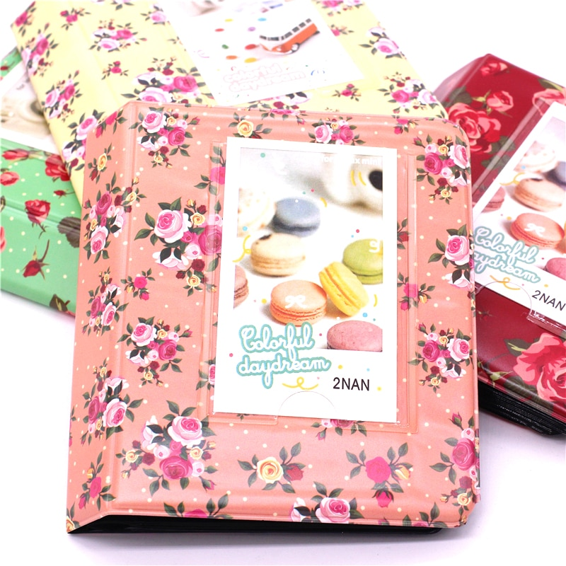 64 bolsillos foto de flores, álbum de boda de 3 pulgadas Mini instantánea Fuji Instax Polaroid y Tarjeta de Nombre álbum de Fotografia s 7s 8 s 8 25 50s