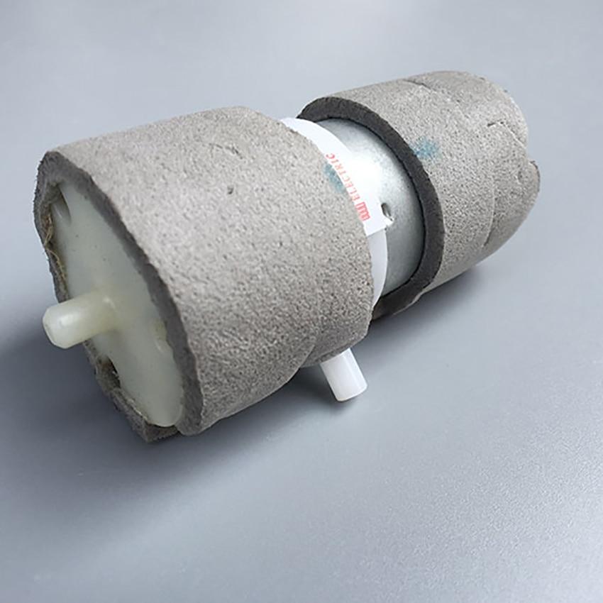 Silent 370 Micro Vacuum Pump Air Pump DC 6V 400mA 100KPa Flow 3.2L/min Self-priming Breast Pump with Carbon Brush Motor