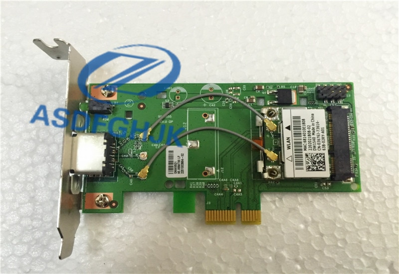 FOR Dell wireless Internet access DW1504 thin PCI-E card 0H04VY w / antenna 0RU297 Detecting an absolute work