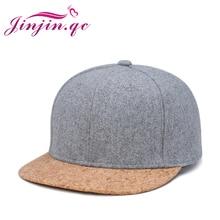 Jinjin.QC 2019 casquette de Baseball en liège   Casquette Simple pour hommes et femmes, casquette Hip Hop Snapback Simple classique, casquettes dété