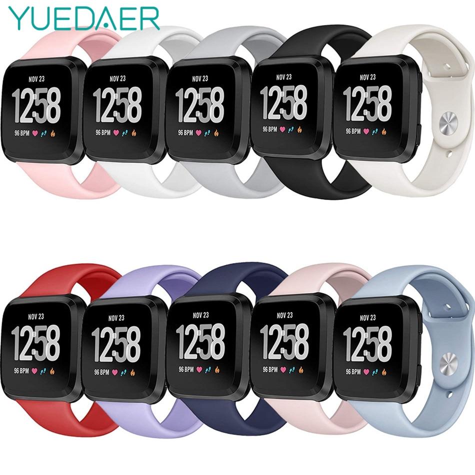 Correa de reloj inteligente YUEDAER de TPU suave para Fitbit Versa Correa pulsera correa de reloj correa de silicona para Fit Bit Versa Smartwatch