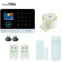 SmartYIBA     systeme dalarme de securite domestique sans fil  wi-fi  GSM  RFID  porte-cles  sirene sans fil  application iOS Android  avec capteur de fumee verre