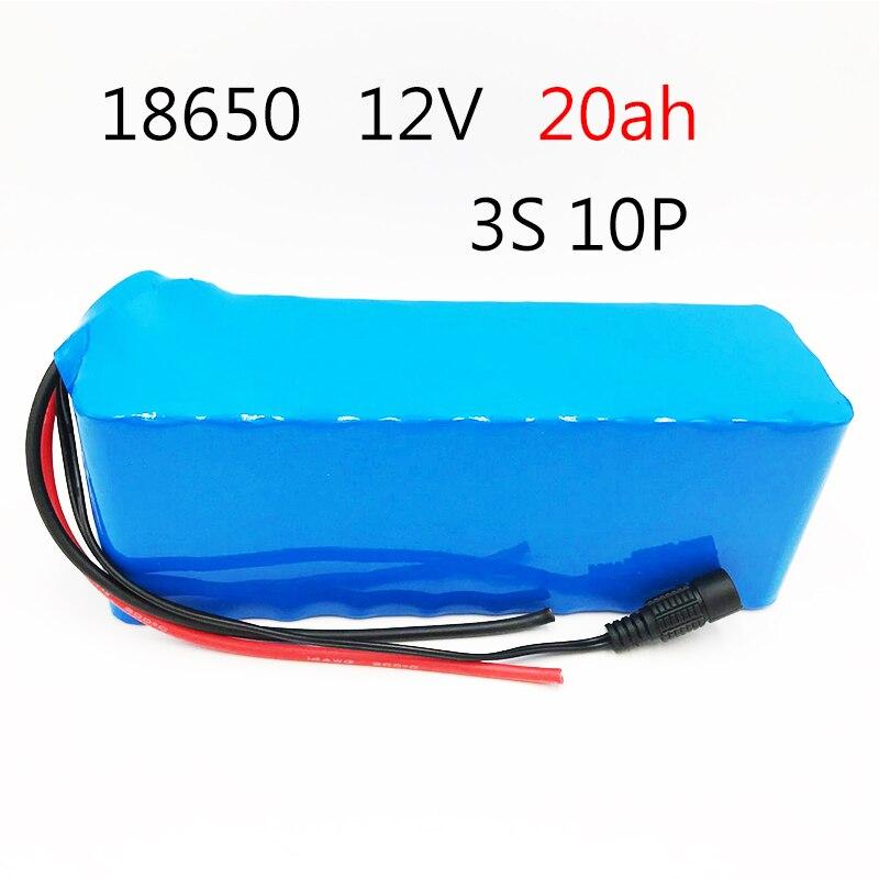 Lodation 12V 20AH batería recargable CC 12,6 V 18650 batería de iones de litio 20AH caza xenón pesca lámpara fuente de luz al aire libre
