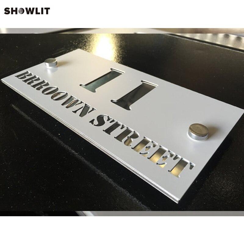 Custom Made Laser Cut Aluminum Address Plaques