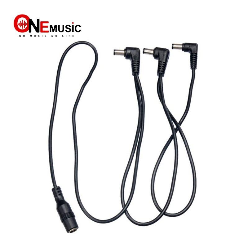 VITOOS negros 3 vías Cables para guitarra pedales electrodo Margarita cadena arnés Cables adaptador de guitarra divisor Cables