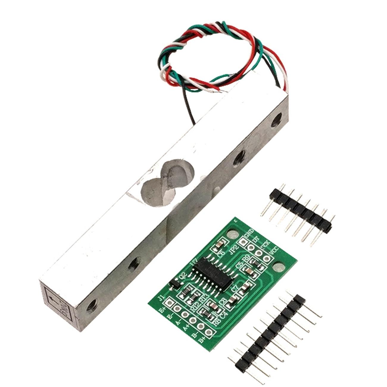 HX711 balanza electrónica sensor 1KG 5KG 10KG 20KG HX711AD peso cepa sensor de presión manométrica 24-poco de precisión AD módulo