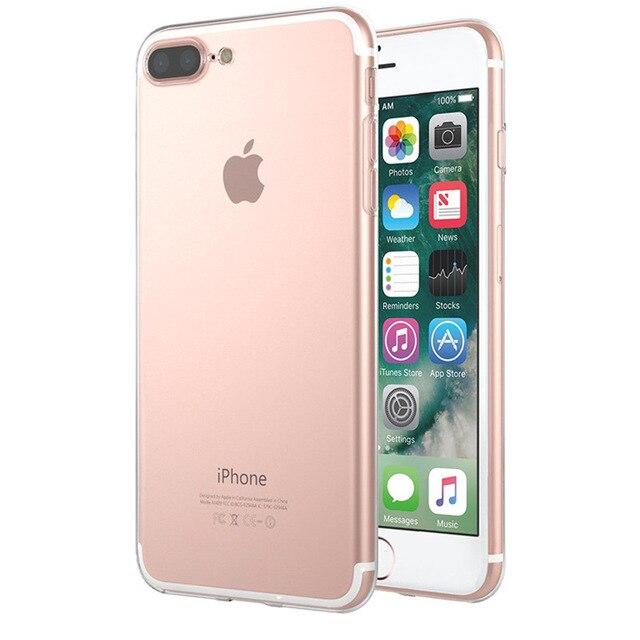 Ultra Fina Transparente Claro Suave Silicone Case Capa Do Telefone Para iphone 6 S 7 Plus 8 6 S Plus X XS max XR 5 5C 5S SE Fundas Coque