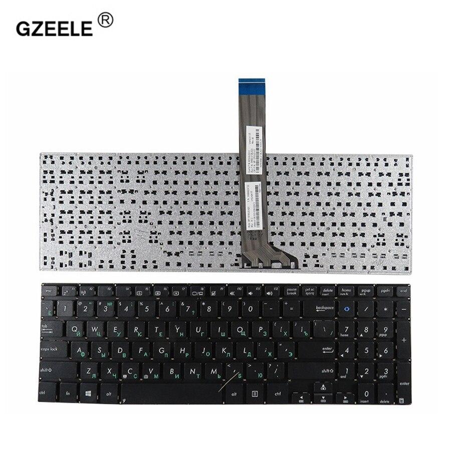 GZEELE russische laptop tastatur Für Asus VivoBook K551 K551L K551LA K551LB K551LN V551 V551LN notebook RU schwarz ohne rahmen