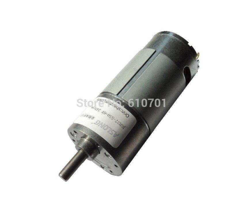 Motorreductor eléctrico DC de reducción de velocidad de rotación de alta potencia 3V-12VDC JGB37-550 12V 2528/1580/840/526/282/175/95/58/31/19 RPM