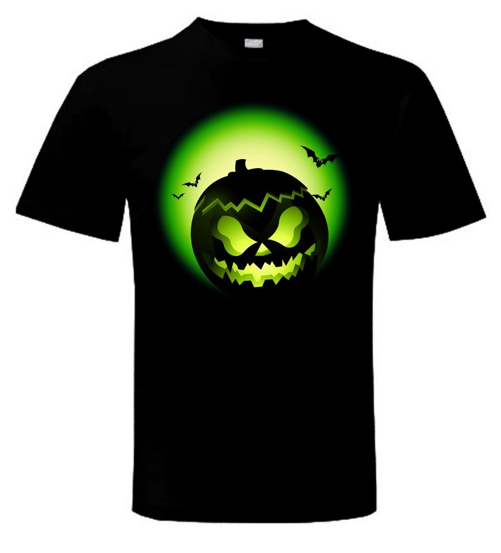 Camiseta de calabaza de HALLOWEEN-truco o trato vestido de fantasía camisas cómicas para hombres