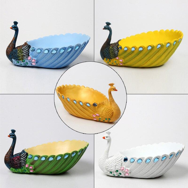 S/m/l novo pavão vaso de flores resina três tamanho 5 cores pastoral simplicidade resina pavão plantas vasos de flores criativo vaso de flores