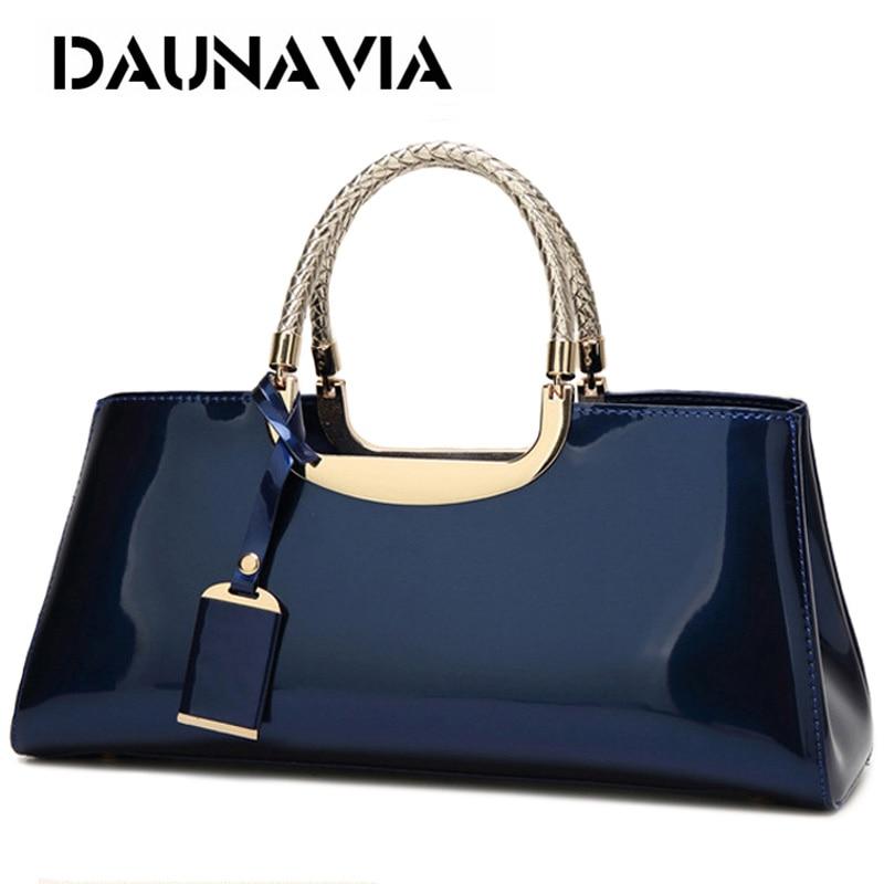DAUNAVIA العلامة التجارية عالية الجودة بولي Leather جلد النساء حقيبة الإناث السفر حقيبة كتف حقائب يد جلدية الإيطالية كيس أكياس فام الرئيسي