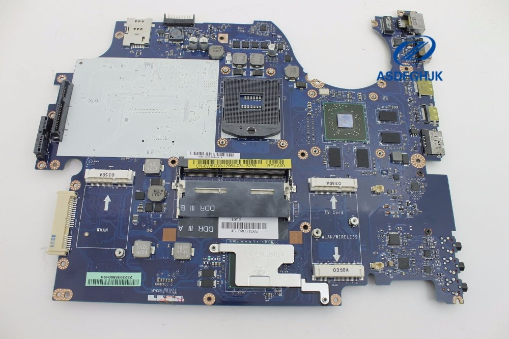 Para Dell Studio 1749 portátil placa base W87G9 0W87G9 CN-0W87G9 La-5155p placa base ATI 1 GB HM55 100% probado ok