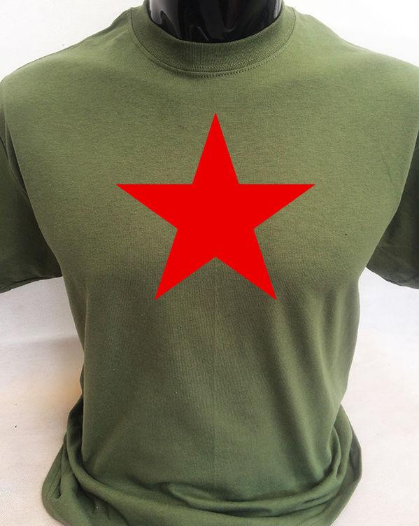 Мужская футболка в стиле ретро Red Star, хлопковая Повседневная футболка