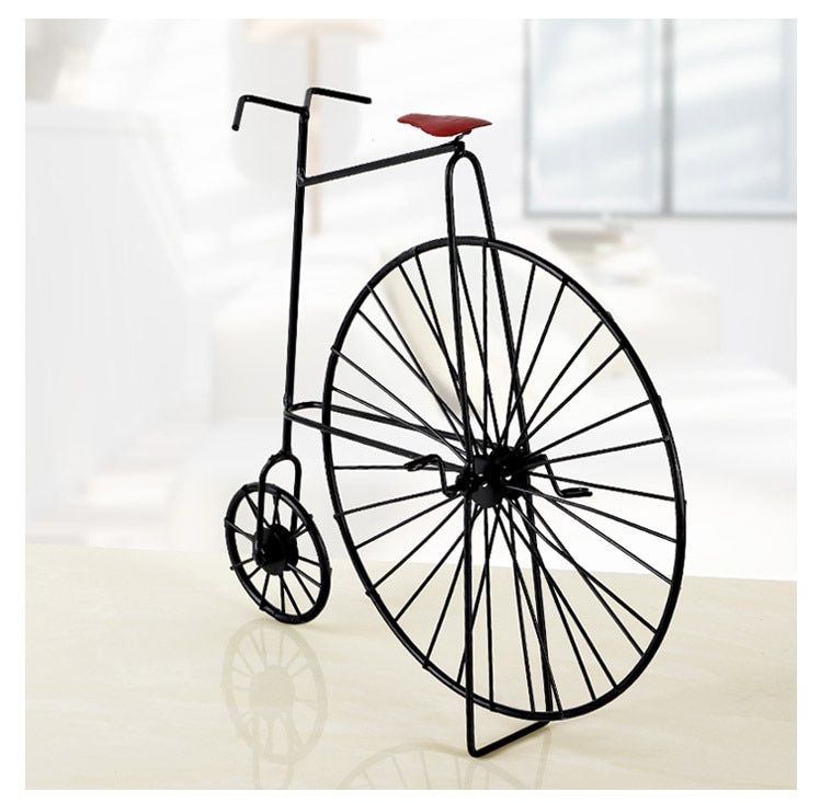 1 шт. винтажная декоративная металлическая модель велосипеда сувениры/креативная кованая модель велосипеда ремесла реквизит для фотосъемк...