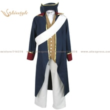 Kisstyle Moda Hetalia Axis Powers Ludwig Germania Uniforme COS Vestiti Cosplay Costume NUOVO, Su Misura Accettato