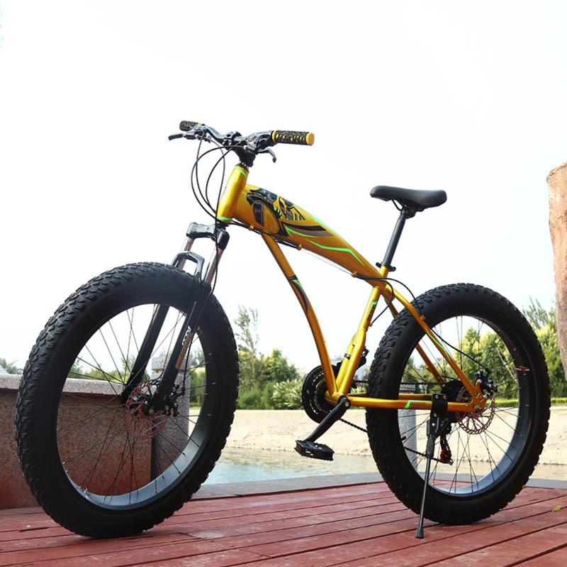 Rueda de freno de dos discos para Bicicleta de nieve de 24 y 26 pulgadas, neumáticos de 4,0, Bicicleta de montaña de playa, Bicicleta de carretera, Marco de fibra de carbono