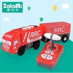RRC Conjunto Caminhão de Controle Remoto Elétrico Magnético Slot Car Telecontrol Expressa Trem Do Caminhão Brinquedos