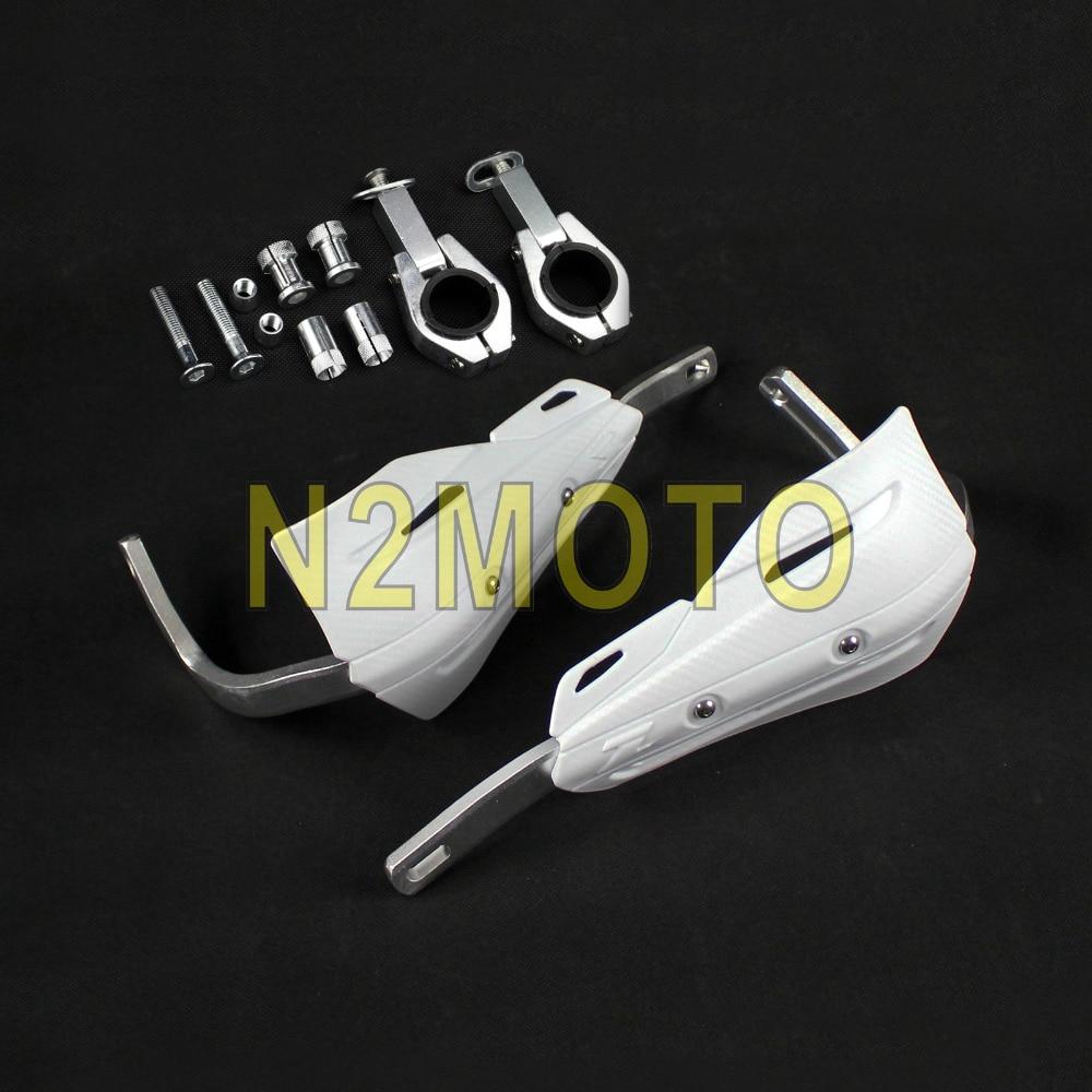 """Protector de escudo de cepillo de mano para motocicletas blancas 1 1/8 """"28mm para KTM XR CR CRF 250 350 400 600 650 guardamanos todoterreno para bicicletas de Cross"""