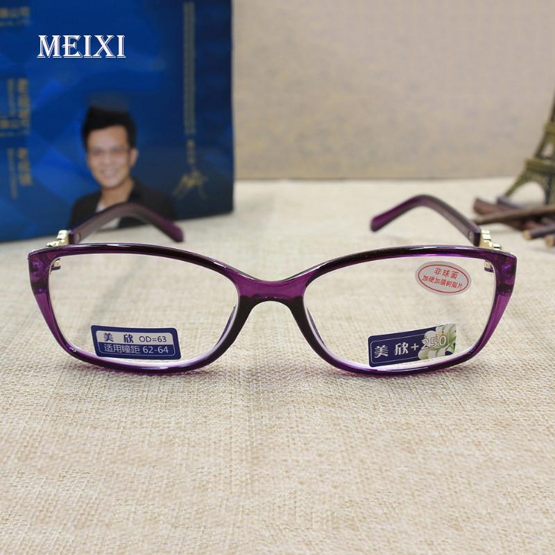 Frauen HD Beschichtung strahlenschutz voll lila rahmen Glas linsen Lesebrillen Brillen 1,0 1,5 2,0 2,5 3,0 3,5 4,0