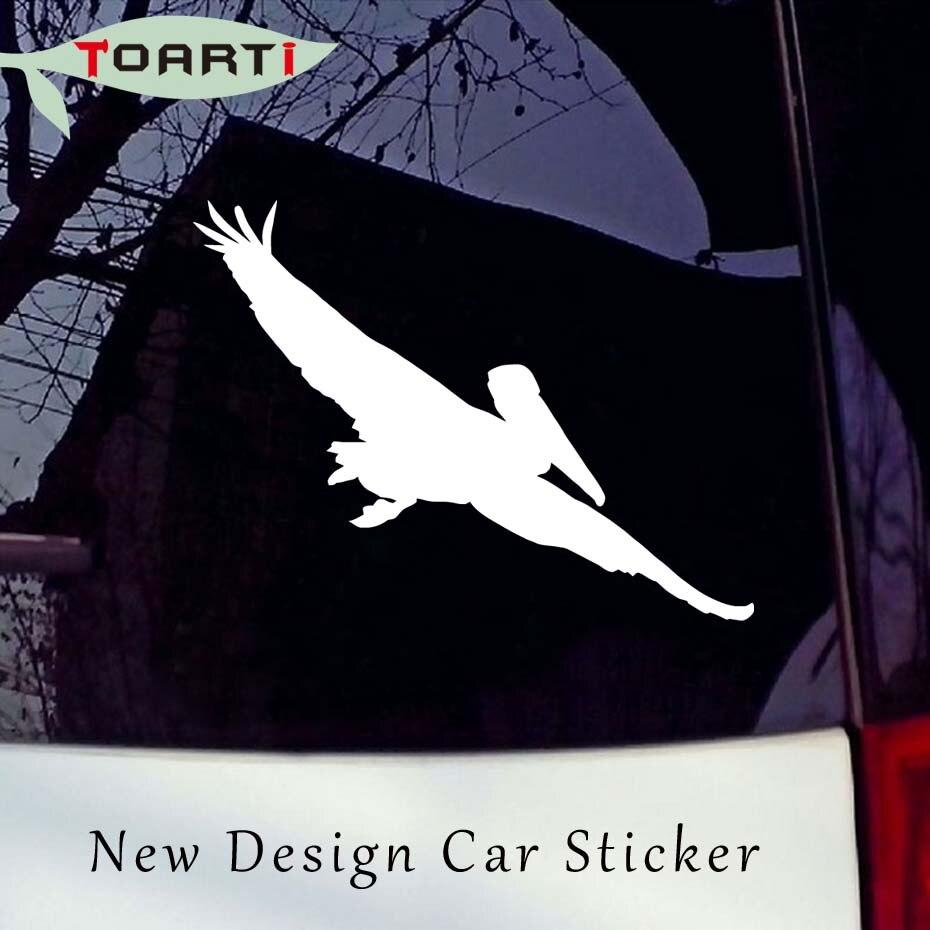 Pájaro volador coche pegatina Pelican calcomanías coche en vinilo estilo ventana extraíble impermeable pegatina ordenador coches decoración del cuerpo