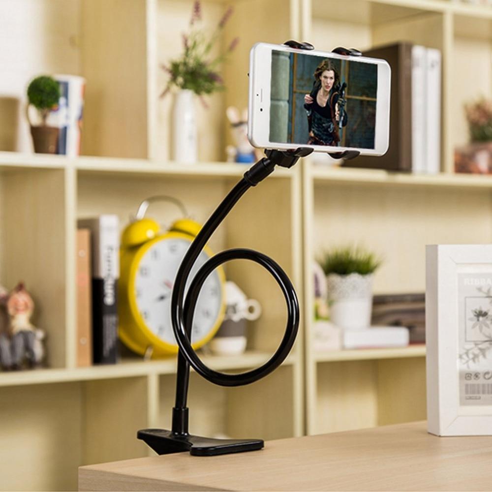 360 soporte giratorio Flexible de brazo largo para teléfono móvil soporte perezoso cama escritorio tablet coche selfie soporte de montaje para iphone 6, para samsung