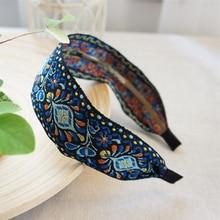 Bandeau brodé style bohémien   Bande ethnique pour femmes, bandeau, accessoires cheveux, magnifique modèle ethnique, Turban large