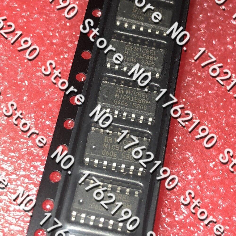5 unids/lote MIC5158BM MIC5158 SOP-14 LDO controlador de voltaje de baja caída integrado IC