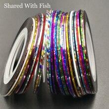 28 pz/pacco colorato orpello ciniglia volare legando materiale UV Shinning linee nastro per la pesca a mosca ninfa natale 1mm * 20 iarde