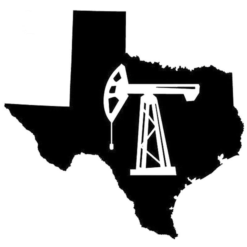 13,3 cm * 14cm bomba de aceite del campo petrolífero del estado de Texas Jack pegatinas de vinilo para el diseño del coche negro/blanco etiqueta de la pared