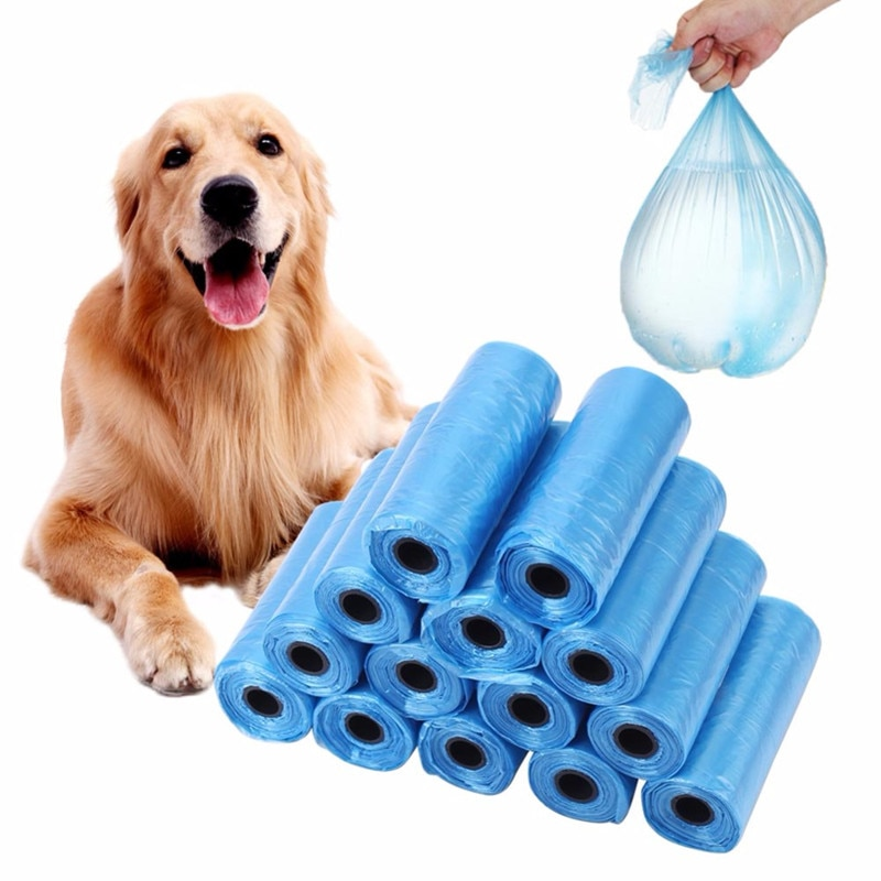 20 40 rollos/paquete 600 Uds. Bolsas de basura para Bolsa para popó de perros para gatos y mascotas, bolsa de recolección de residuos, suministros de limpieza para exteriores
