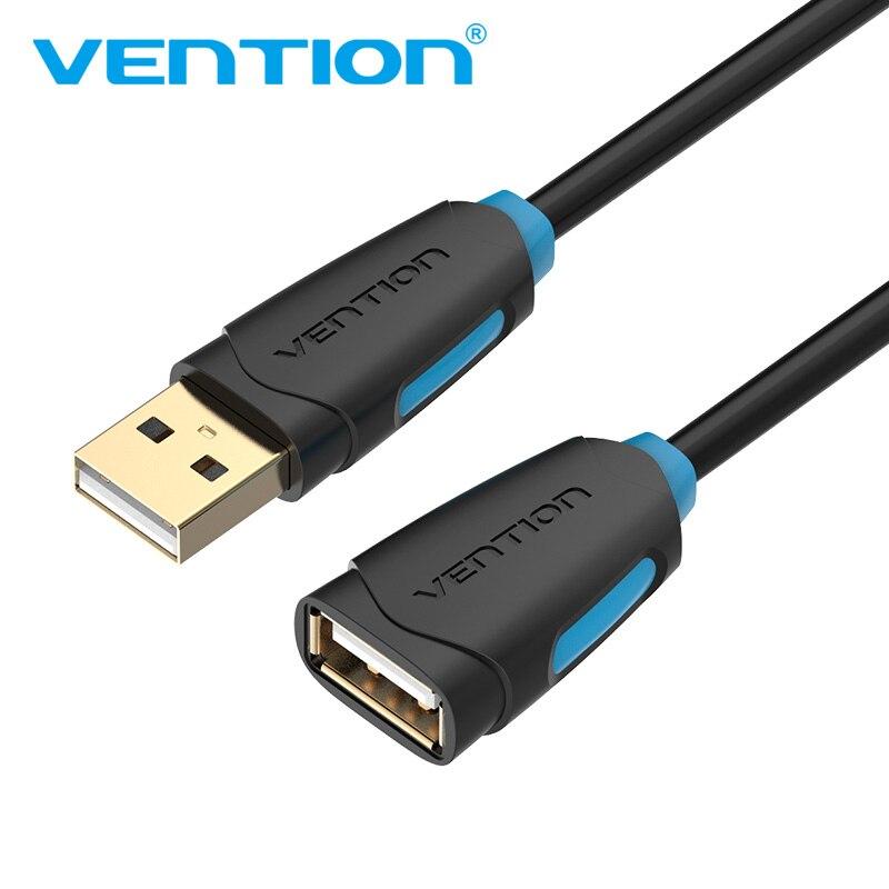 Vention USB Cable de extensión supervelocidad USB 3,0 Cable macho a hembra 1m 2m 3m sincronización de datos USB 2,0 extensor Cable de extensión