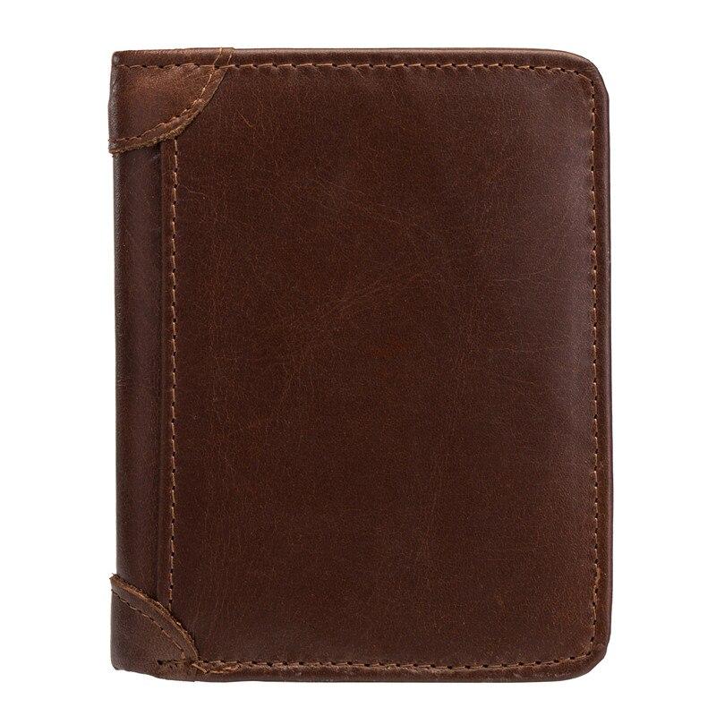 100% натуральная коровья кожа бумажник мужские новые брендовые кошельки для мужчин коричневый двойной кошелек RFID Блокировка кошельки Держат...