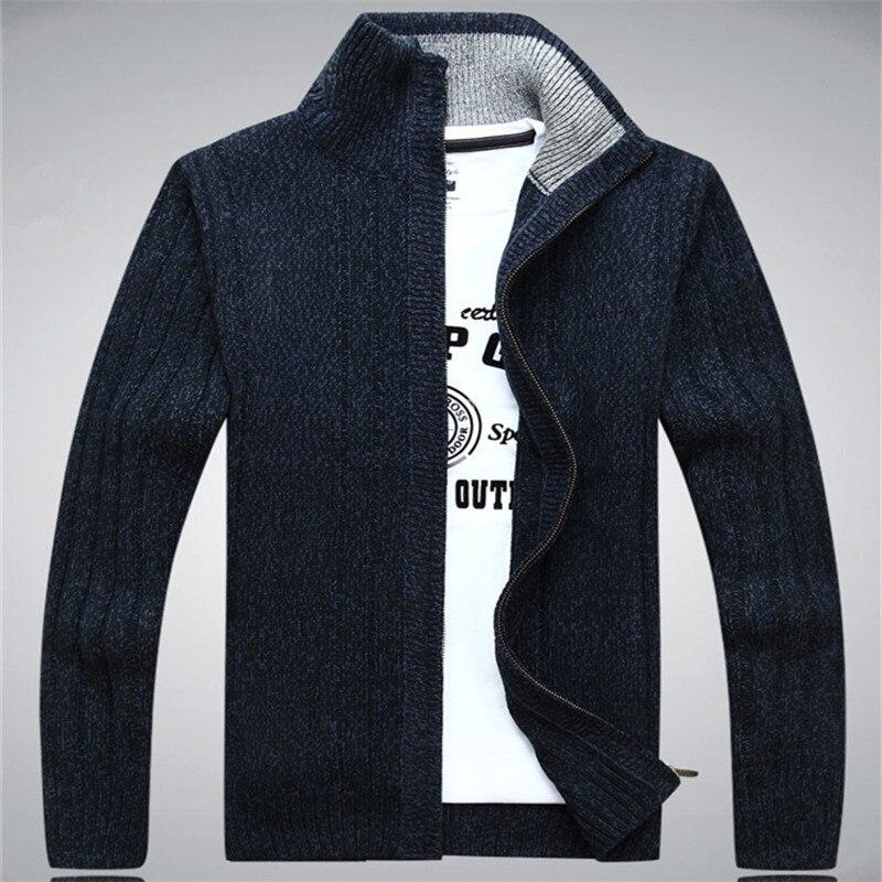 Chandails ICPANS homme 2019 laine coton pull homme hiver automne fermeture éclair Kint Wear homme Cardigan sweatermanteaux blanc taille XXXL
