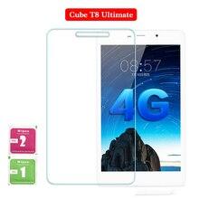 Para Cube T8 Ultimate 8 pulgadas vidrio templado protector de pantalla de tableta PC película 2.5D Edge 9H transparente ultrafino