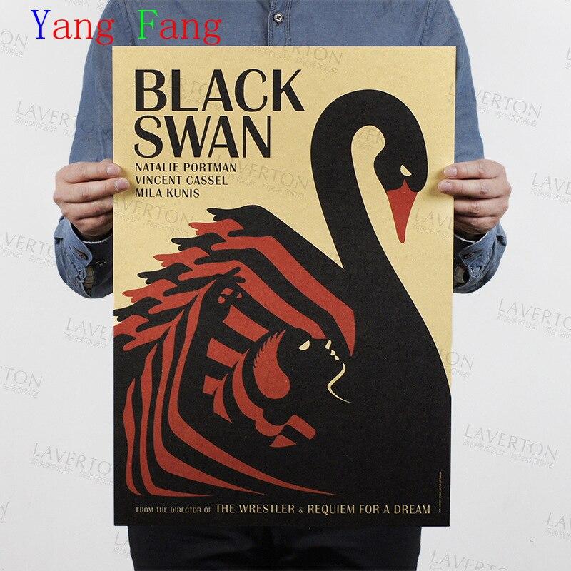"""Vintage berühmte film poster """"black swan"""" Klassische retro Vintage Kraft Papier Wand aufkleber home wand decor 51*35cm"""