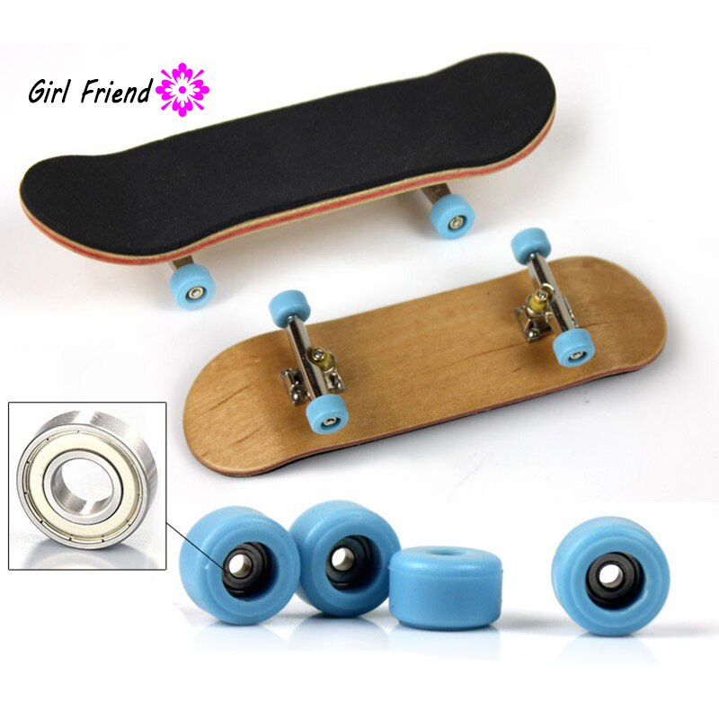 Rodamiento de ruedas patín de madera de arce dedo monopatín soporte de aleación cojinete rueda juguetes de diapasón Multicolor para bebé